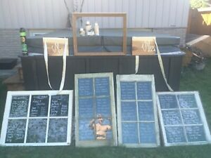Wedding decor/accessory package with rustic antique windows