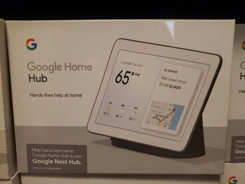Google Home Nest Hub with Google Assistant Charcoal - GA00515-US - New & Sealed