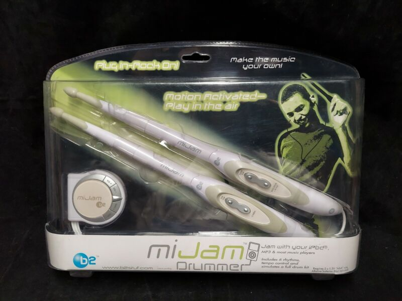 B2 MiJam Drummer Motion Activated iPod Electronic Drumsticks Brand New  RARE