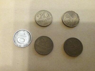 1 Lot Kleinmünzen,aus der DDR, erste ausgaben