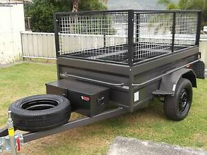 Aust Built 7x4 Cage Trailer Rhino Box 6 Leaf Leds Jockey & Spare. Hatton Vale Lockyer Valley Preview