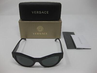 Versace 4253 GB1/87 53 19 140 Cat Eye Women's Black Frame Grey Lens Sunglasses