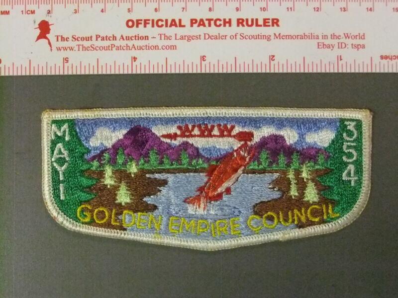 Boy Scout OA 351 Mayi Lodge Early Flap 7762JJ