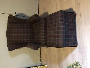 Beautiful Plaid Wing Back Chair