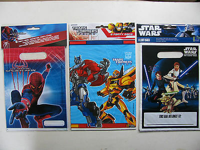 Party Loot Bags Lootbags Parties Various Themes Transformers Star Wars Spiderman (Transformers Party Theme)
