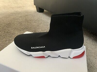 Balenciaga Black And White Speed Trainer Runner men's Size 9