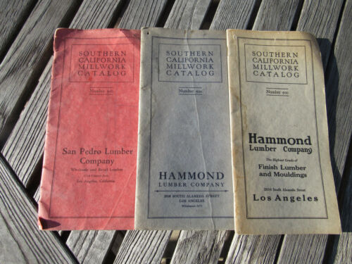 Vintage Set of 3 Southern California Millwork Catalogs Number 500 (1926)