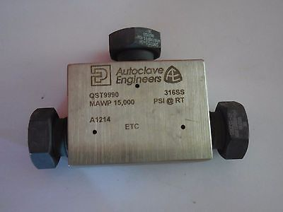 New Qst9990 Parkerautoclave Engineers Medium Pressure Tee Fitting 316ss