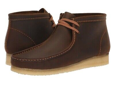 Men's Shoes Clarks Originals WALLABEE BOOTS Moccasin 34196 BEESWAX LEATHER