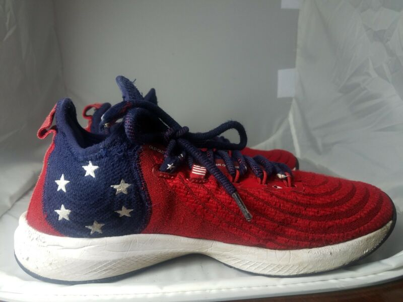 Under Armour Harper 4 Turf LE USA Flag (Style #3022821) boys youth 9.5 Preowned.