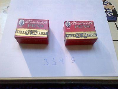 Vintage Esterbrook Size 354 Pen Nibs 2 boxes (Gross)