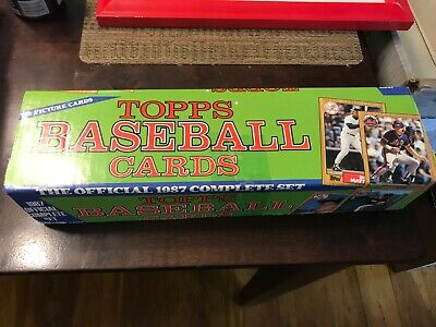 1987 Topps Baseball COMPLETE SET FACTORY SEALED 792 CARDS mint condition 1987 Topps Factory Set