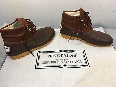 Fendissime Fendi Brown Women's Sports Ankle Boots / Shoes Size 7 Italy 37