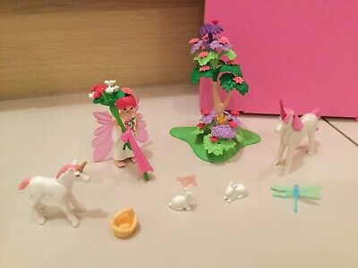 Playmobil 5995 Princess Fairy Unicorn Butterfly Playset Pink Carry Case Complete