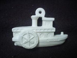 D165 ceramic bisque ornament steamboat 3d ready to paint for Bisque ceramic craft stores