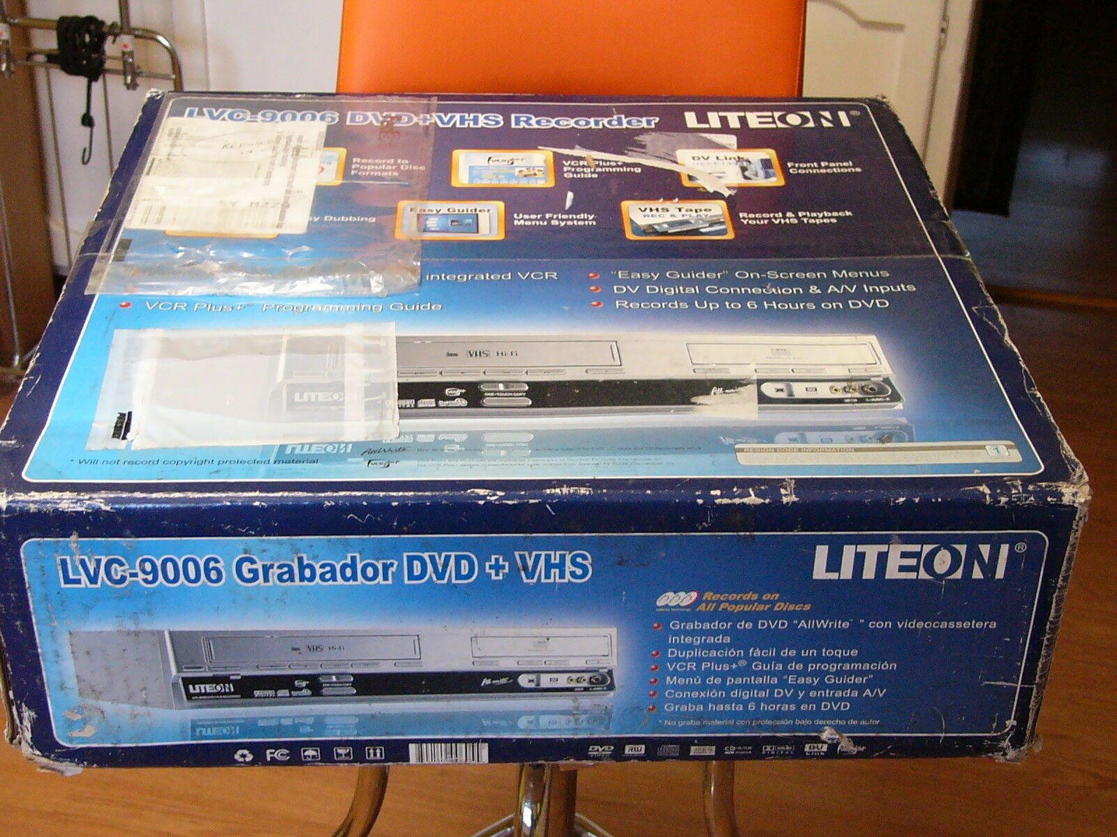 NEW Lite On LVC-9006 Progressive Scan DVD VHS Recorder Playe