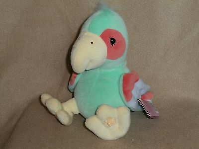 Precious Moments Tender Tails Plush Parrot-1999-NWT