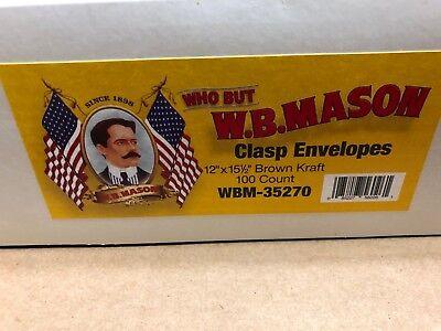 Size 110 Brown Kraft Clasp Envelopes 28 Lb 12x15-12 Wmb-35270 56026 Nib Fs