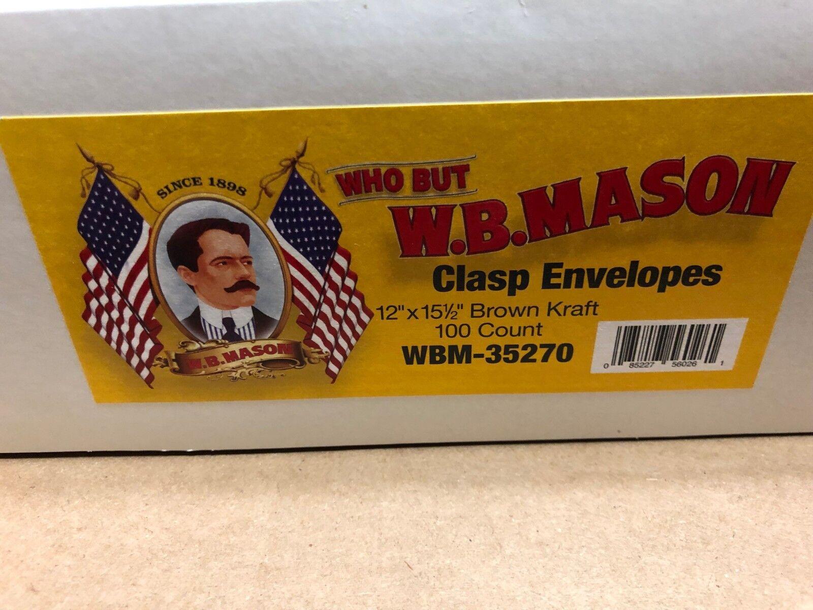 """Size # 110 Brown Kraft Clasp Envelopes 28 lb 12""""x15-1/2""""  WM"""