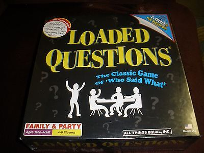 Buy and sell New Loaded Questions Teen-Adult Classic Game 'Who Said What' Family Party products