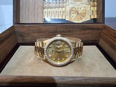 STUNNING Rolex Day Date 18238 Full factory Diamond Dial and Bezel**Px Welcome *