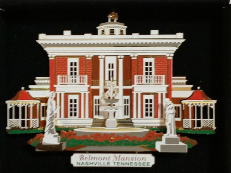 Belmont Mansion Nashville Tennessee Christmas Ornament