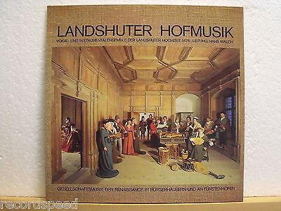 ★★ LP - LANDSHUTER HOFMUSIK - Gesellschaftsmusik der Renaissance 1475 / H. WALCH