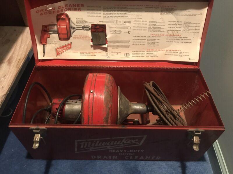 Milwaukee Electric HEAVY DUTY Drain Cleaner W/Case