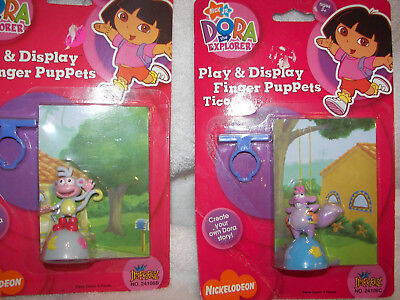 - Dora the explorer play and Display finger puppet Tico/ Boots in Packages set 2