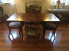 Unique Antique Dining Table and Chairs Caulfield South Glen Eira Area Preview