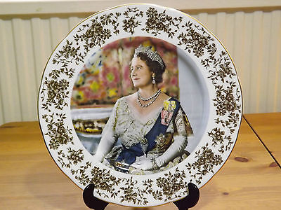 Crown Staffordshire LARGE Limited Edition PLATE Queen Mother 80th Birthday