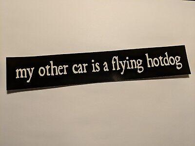 Phish sticker: my other car is a flying hotdog
