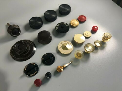 LOT #8 VINTAGE ANTIQUE RADIO TUBE AMPLIFIER STEREO MIXED DIAL KNOBS PARTS