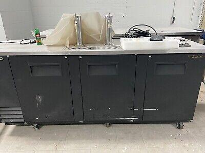 New 3 Door Draft Beer Refrigerator Direct 2 Tap Tower Cooler True Tdd-4-hc 1871