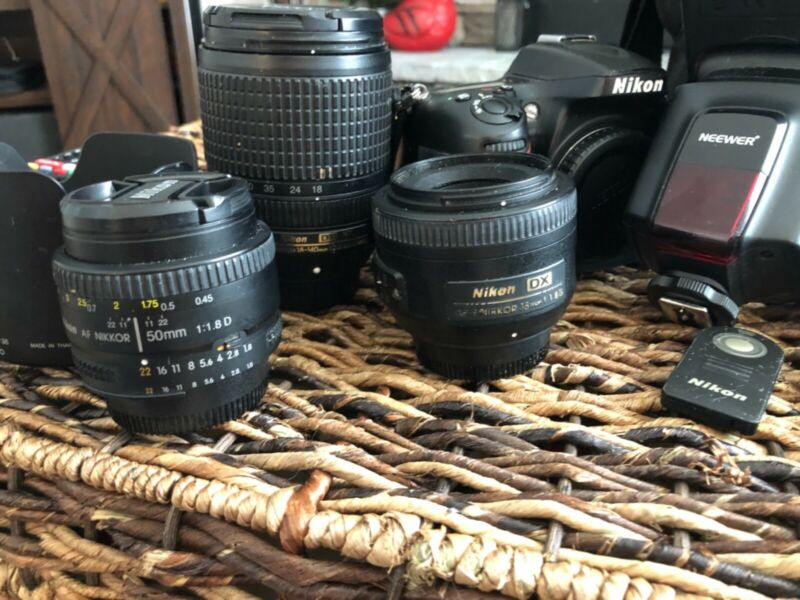 nikon d7100 plus accessories three lenses