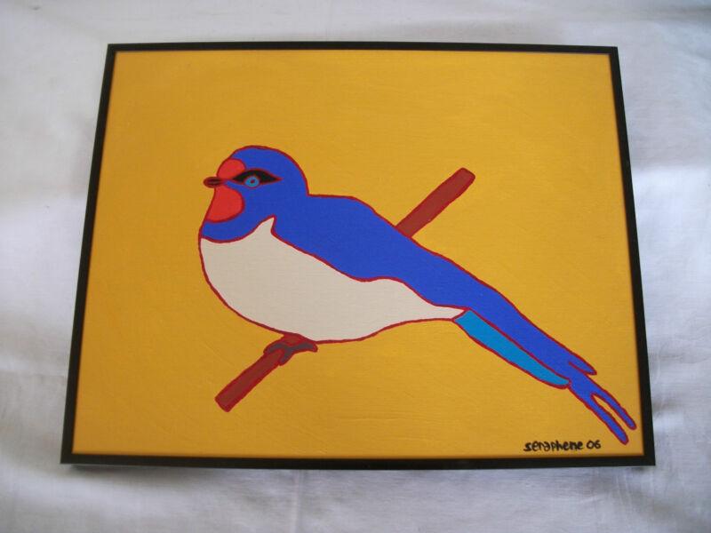 Bird painting by art student Seraphene 2006