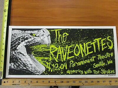 2002 Rock Roll Concert Poster The Raveonettes The Strokes Print Mafia SN LE#50