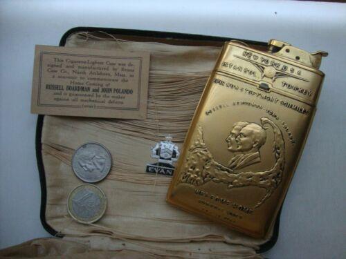 Vintage Aviation History Commemorative EVANS Cigarette Case LIGHTER Boardman