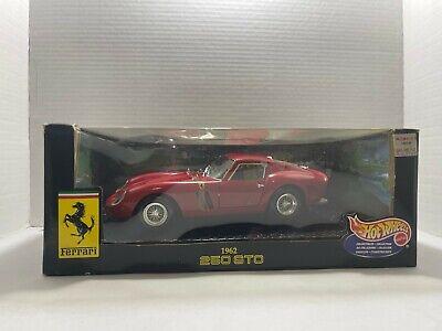 Hot Wheels 1:18 Die Cast Metal Car 1962 Ferrari 250 GTO Red