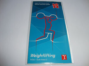 London 2012 Olympics WEIGHTLIFTING Spectator Guide ticket NEW + PVC WALLET