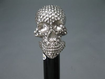 Victorian Style Brass Skull Head Handle Walking Stick Wooden cane 92 cm Style