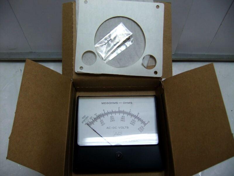 Simpson 329A Megohm / Ohm Panel Meter
