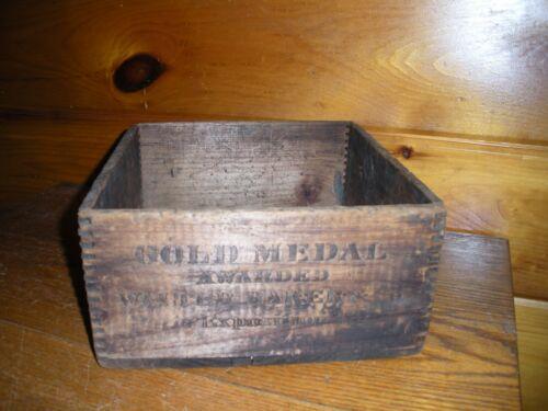 Vintage Wooden Walter Baker Chocolate BOX