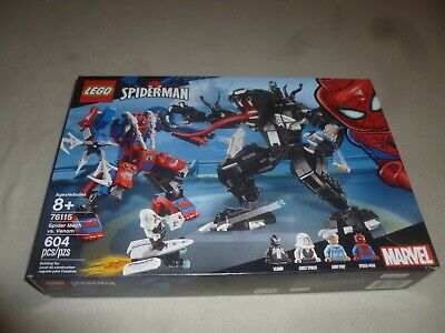 NEW IN BOX LEGO SET SPIDERMAN SPIDERMECH VS VENOM 76115 NIB 604 PCS SPIDER MAN
