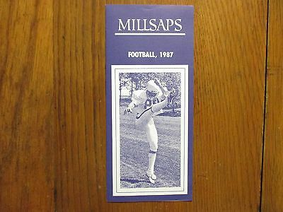 RUSTY DAVIS/SCOTT CHRISTIAN/HARPER DAVIS 1987 Millsaps College Football Brochure