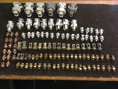 116 Burndynsiilscopenn Union Etc.mixed Lot Of Surplus Split Bolt Connectors