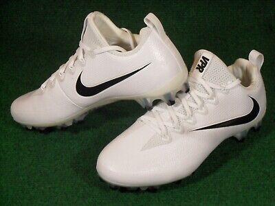 New Mens Nike Vapor Untouchable Pro Low TD Football Cleats White Black WIDE (Nike Mens Vapor Untouchable Pro Football Cleats Black)