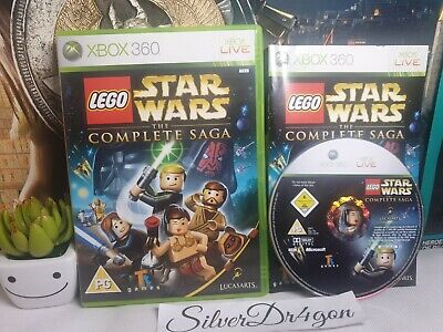 Lego Star Wars The Complete Saga Xbox360 game with manual