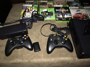 Xbox360 with Wireless Controller, Games, & Kinect