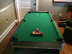 Mini air hockey and pool table